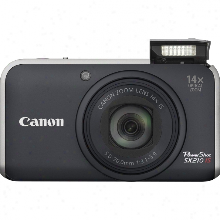 Canon Powershot Sx210 Is 14.1 Megapixel Compact Camera - 5 Mm-70 Mm - Gold