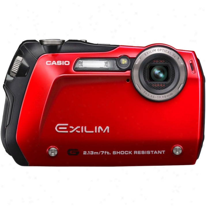 Casio Exilim Exx-g1 Point & Shoot Digital Camera - Red