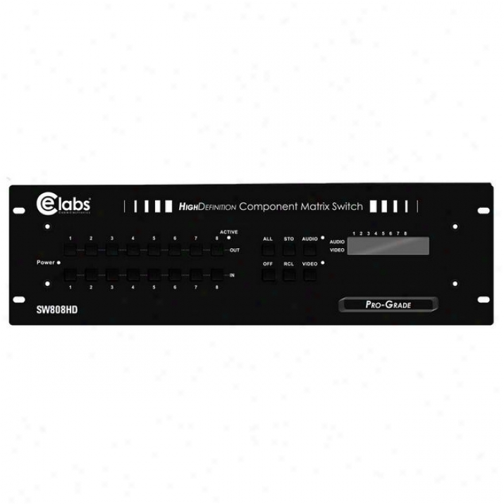 Ce Labs Sw808hd 8 X 8 Component Hdtv System Selector