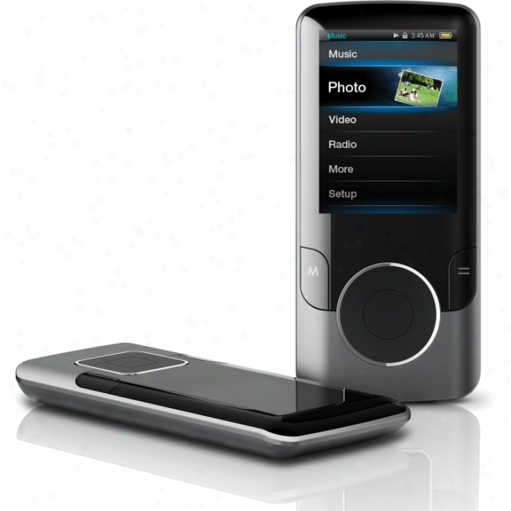 Coby Mp707 4 Gb Black Flash Portable Media Player