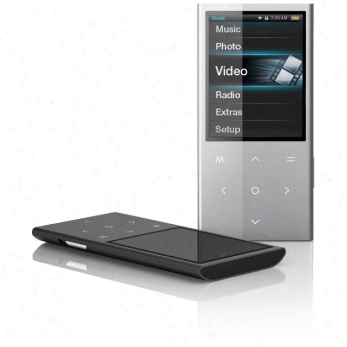 Coby Mp757 8 Gb Black Flash Portable Media Player