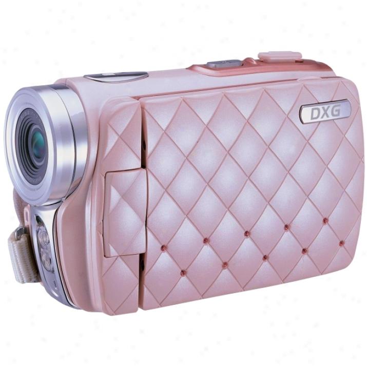 """Dxg Riviera Dxg-535v Digital Camcorder - 3"""" Lcd - Cmos - Pink"""