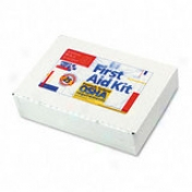 First Aid Kit For Up To 25 People, Metal Case And Mountable Hanger