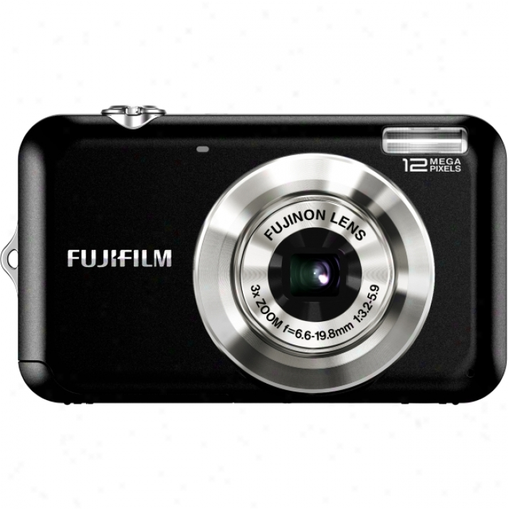 Fujifilm Finepix Jv100 12.2 Megapixel Press together Camera - 6.60 Mm-19.80 Mm - Black