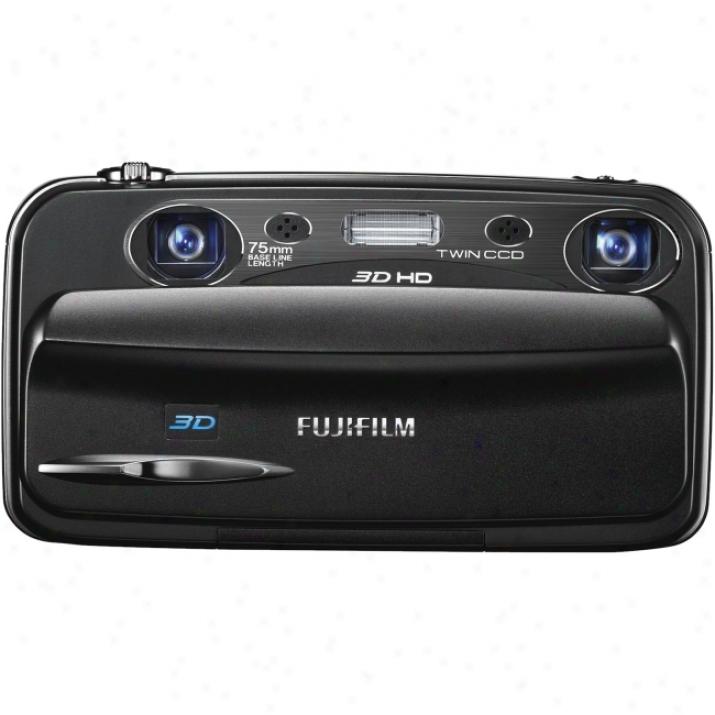 Fujifilm Finepix Real 3d W3 10 Megapixel 3d Compact Camera - 6.30 Mm-18.90 Mm (lens 1), 6.30 Mm-18.90 Mm (lens 2) - Black