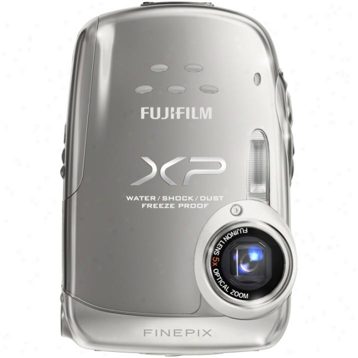 Fujifilm Finepix Xp10 12.2 Megapixel Compact Camera - 6.40 Mm-32 Mm - Silver