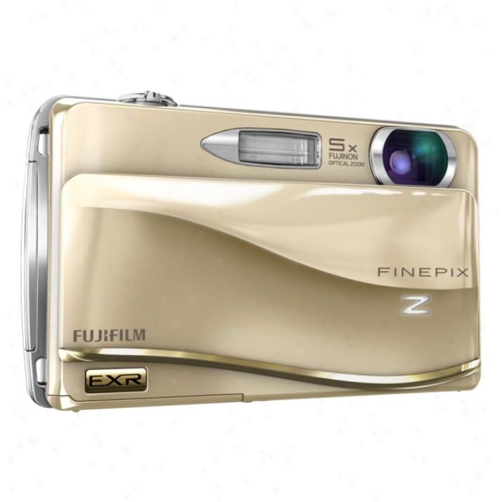 Fujifilm Finepix Z800exr 12 Megapixel Compac5 Camera - 6.40 Mm-32 Mm - Gold