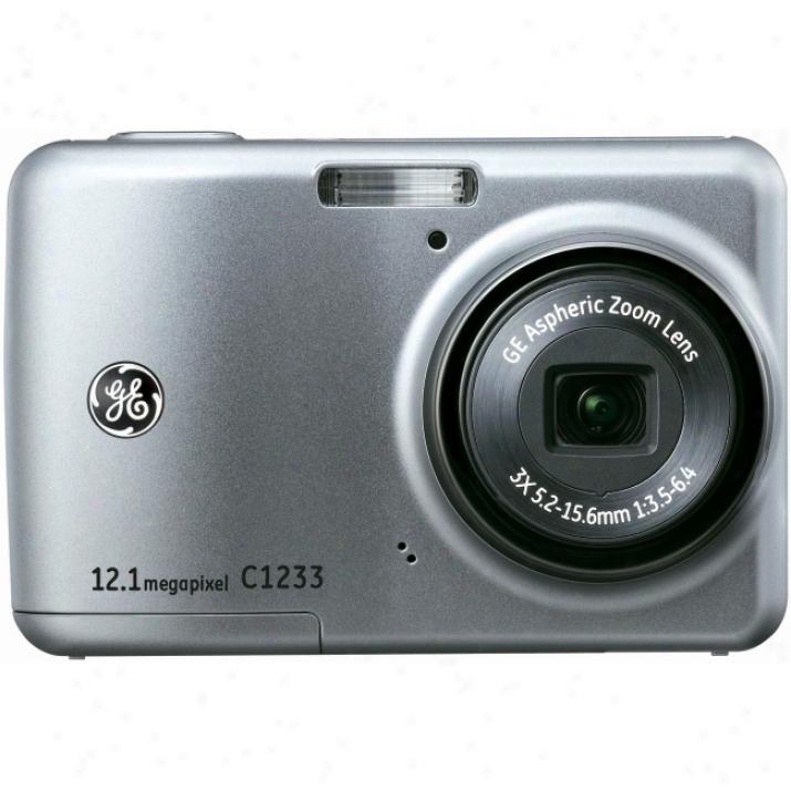 General Imaging C1233 12.4 Megpaixel Compact Camera - 5.24 Mm-15.72 Mm - Silver