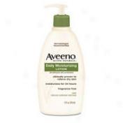 Johnson&johnson Aveeno Daily Moisturizing Lotion - Skin Lotion - 12 Oz - Non-f5agrance - Non-greasy, Non-comedogeinc, Hypoallergenic