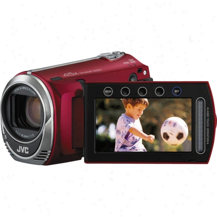 "Jvc Everio Gz-ms230 Digital Camcorder - 2.7"" Lcd - Ccd - Red"