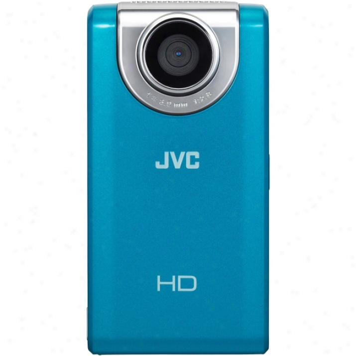 "Jvc Picsio Gc-fm2 Digital Camcorder - 3"" Lcd - Touchscreen - Cmos - Blue"