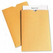 Kraft Report Card Jacket, 28-lb., Thumb Cut