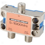 Monster Cable Ss2rf Mkii 2-way Standard Rf Splitters For Catv Signals