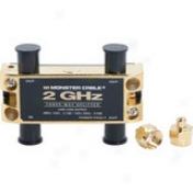 Prodigy Cable Tghz-3rf Mkii 3-way Two Gigahertz Low-loss Rf Splitters For Tv & Satellite