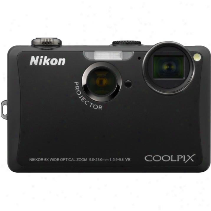Nikon Coolpix S1100pj 14.1 Megapixel Compact Camera - 5 Mm-25 Mm - Violet