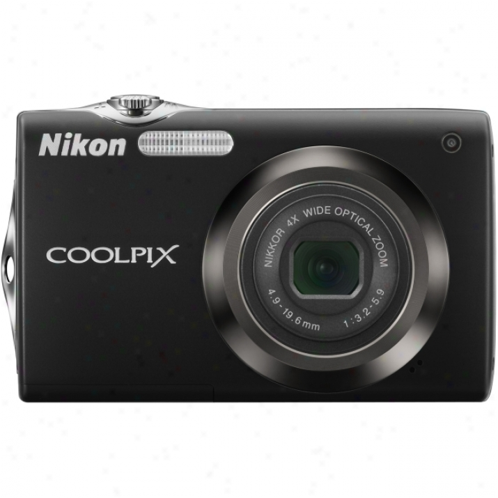 Nikon Coolpix S3000 12 Megapixel Compact Camera - 4.90 Mm-19.60 Mm - Black