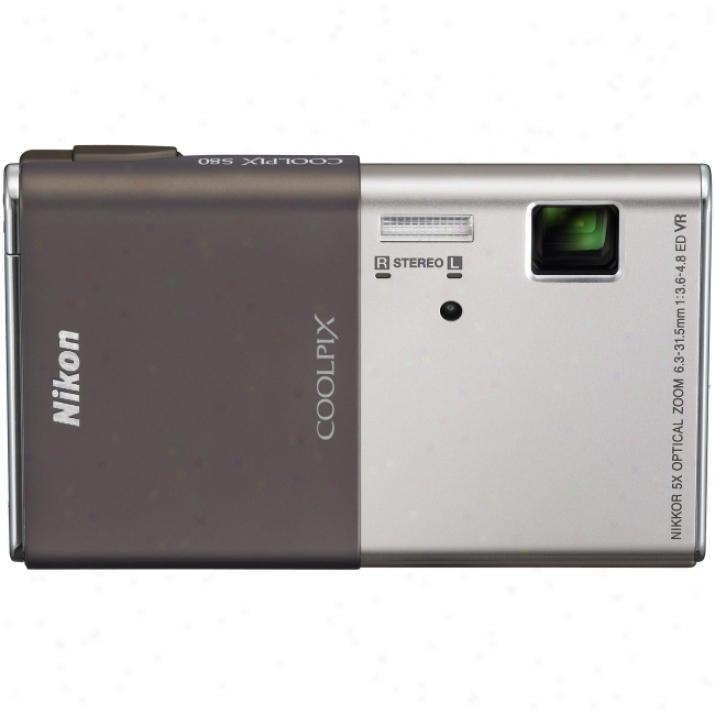 Nikon Coolpix S80 14.1 Megapixel Compact Camera - 6.30 Mm-31.50 Mm - Gold