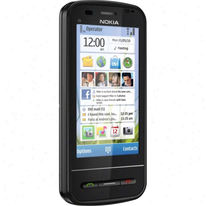Nokia C6 Smartphone - Slide - Black