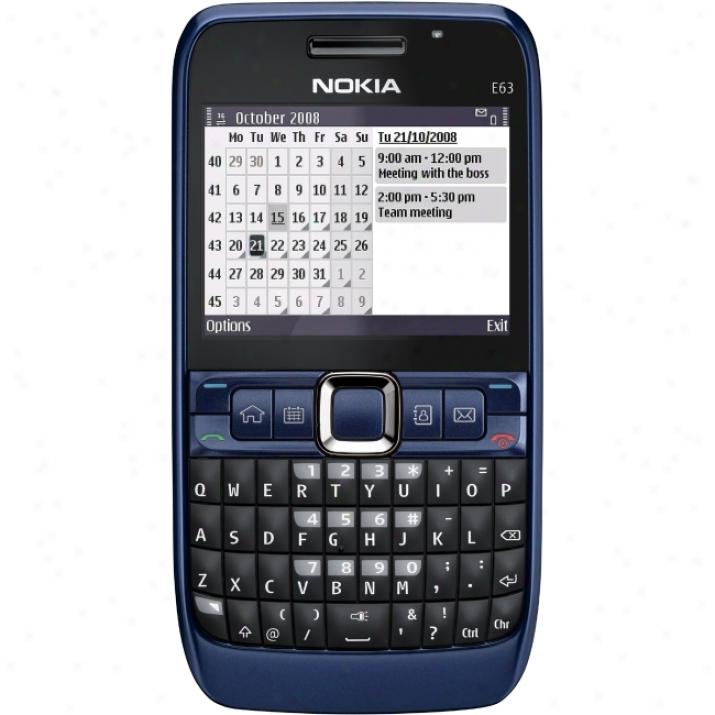 Nokia E63 Smartphone - Bar - Blue