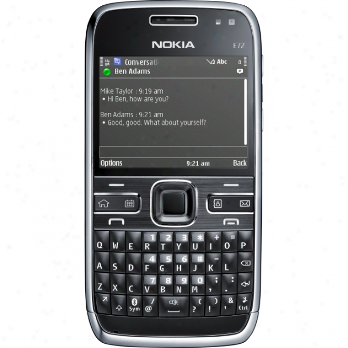 Nokia E72 Smartlhone - Obstacle - Black