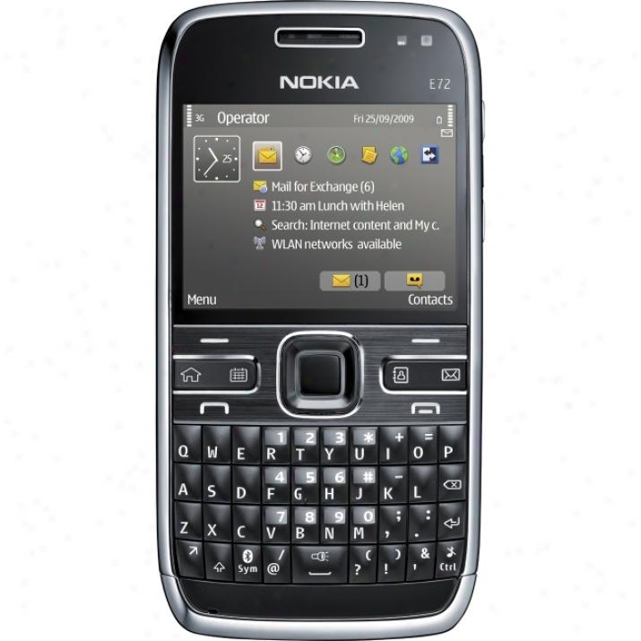 Nokia E72 Smartphone - Bar - Zodium Black