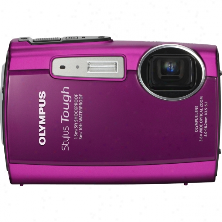 Olympus Stylus Tough 3000 12 Mebapixel Compact Camera - 5 Mm-18.20 Mm - Pink