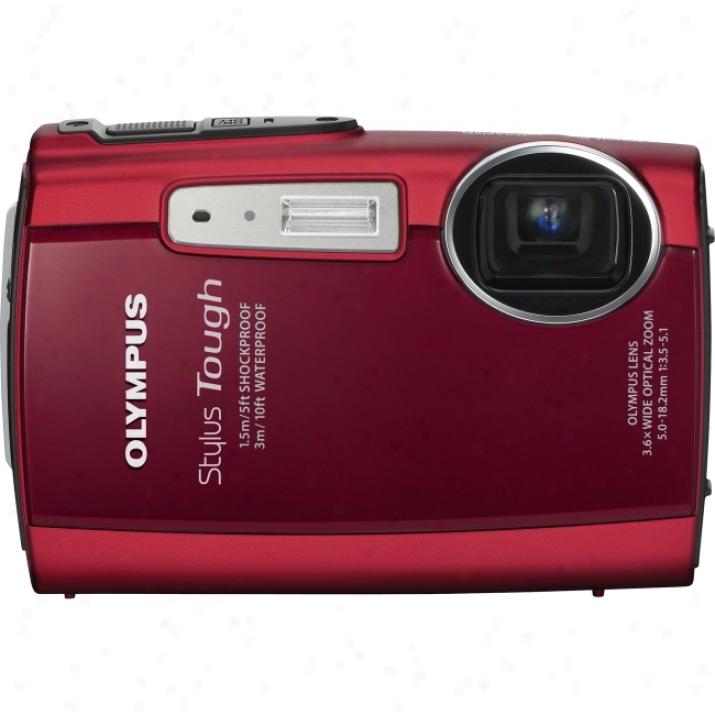 Olympus Stylus Tough 3000 12 Megapixel Compatc Camera - 5 Mm-18.20 Mm - Red