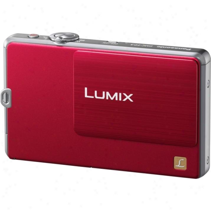 Panasonic Lumix Dmc-fp1 12.1 Megapixel Compact Camera - 6.30 Mm-25.20 Mm - Red