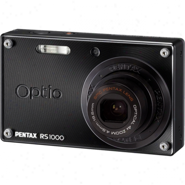 Pentax Optio Rs1000 14 Megapixel Compact Camera - 4.90 Mm-19.60 Mm - Black