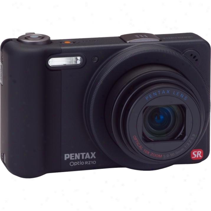 Pentax Optio Rz10 14 Megapixel Compact Canra - 5 Mm-50 Mm - Black