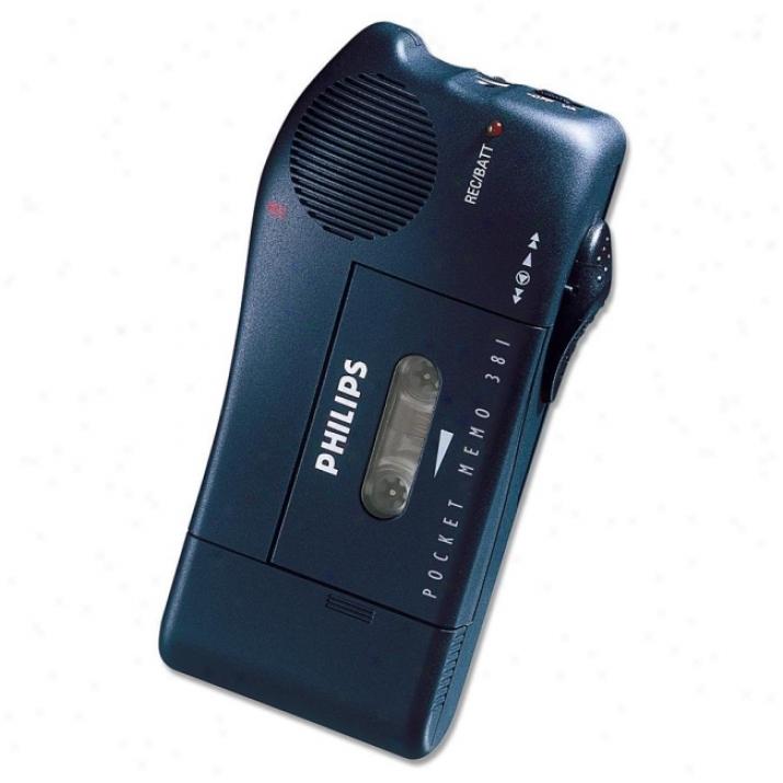 Philips Pm381 Mini Cassette Voice Recorder