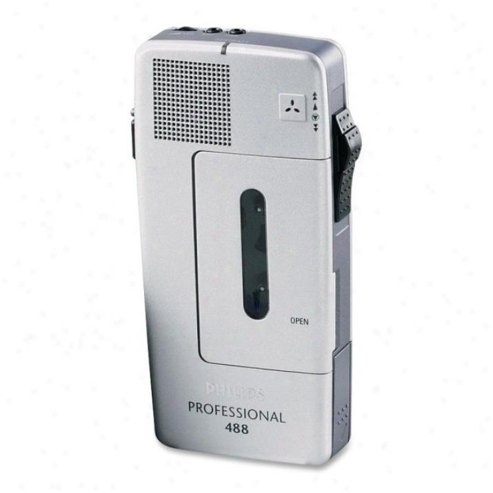 Philips Pm488 Mini Cassette Voice Recorder