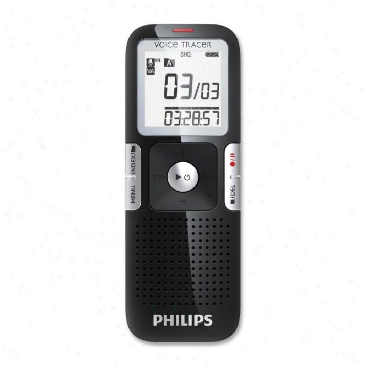 Pgilips Voice Tracer Lfh0642 Digital Voice Recorder