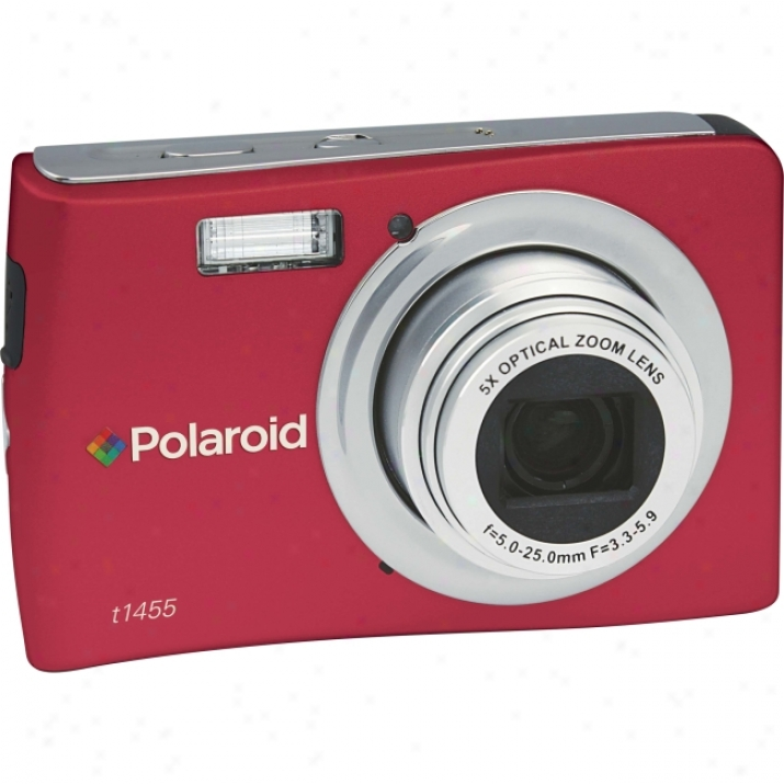Polaroid T1455 14 Megapixel Compact Camera - 5 Mm-25 Mm - Red