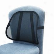 """Safco Adjustable Mesh Backrest - 17.5"""" X 3"""" X 15"""" - Black"""
