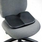 """Safco Softspot Seat Cusion - Non-abrasive, Anti-static, Washable - 15.5"""" X 10"""" X 3"""" - Black"""