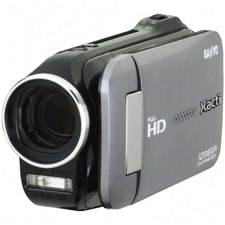 "Sanyo Xacti Vpc-gh4 Digital Camcorder - 2.7"" Lcd - Cmos - Cahrcoal"