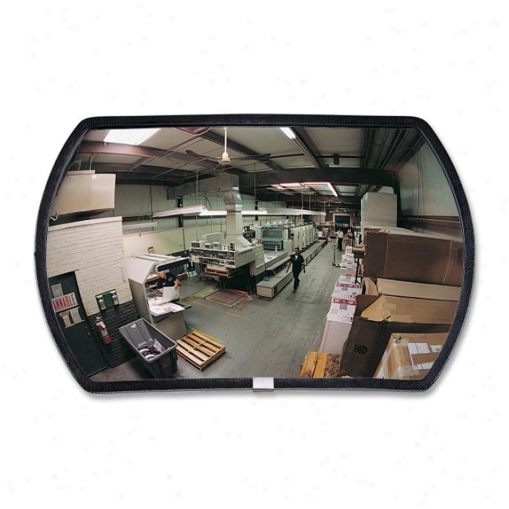 See All Round Rectangular Glass Convex Mirror