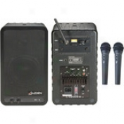Single-channel Vhf Powered Speaker System Wi5h Wireless Mics - A4, 171.905mhz Hand-held