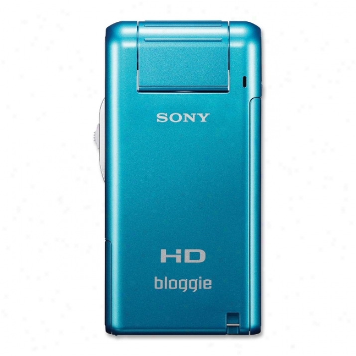 "Sony Bloggie Mhs-pm5 Digital Camcorder - 2.4"" Lcd - Cmos - Blue"