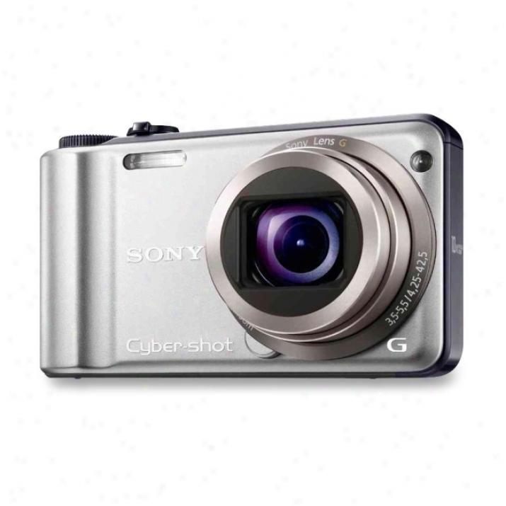 Sony Cyber-shot Dsc-h55 14.1 Megapixel Compact Camera - 4.25 Mm-41.50 Mm - Silver