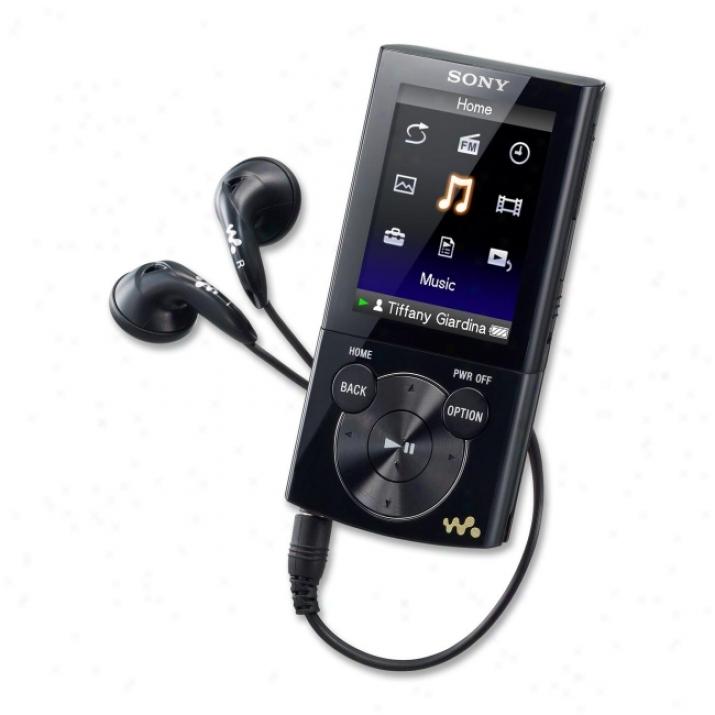 Sony Walkman Nwz-e354blk 8 Gb Black Flash Portable Media Player