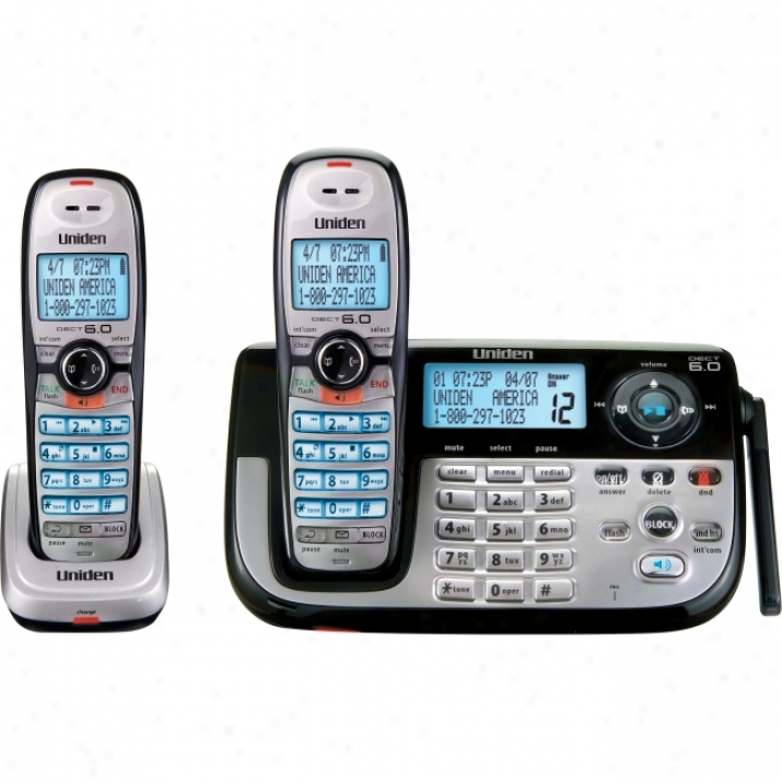 Uniden Dect1185-2 Cordless Phone With 2 Handset