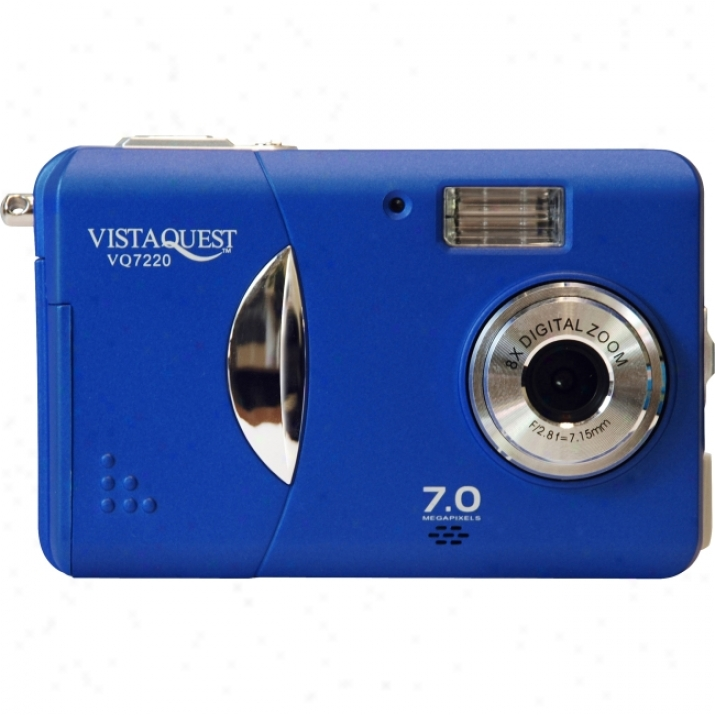 Vistaquest Vq-7220 Point & Soot Digital Camera - Blue
