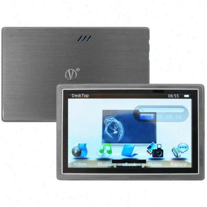 Visual Disembark Vl-976 8 Gb Silver Flash Portable Media Player