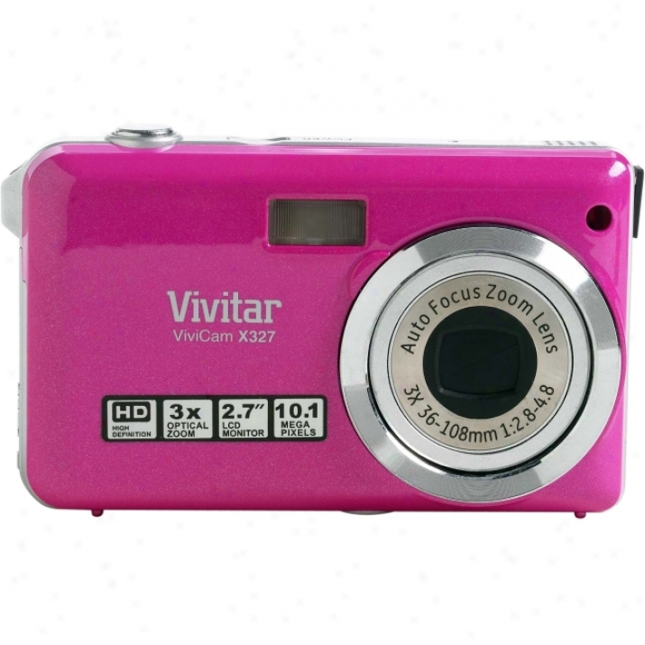 Vivitar Vivicam X327 10 Megapixel Compact Camera - Pink