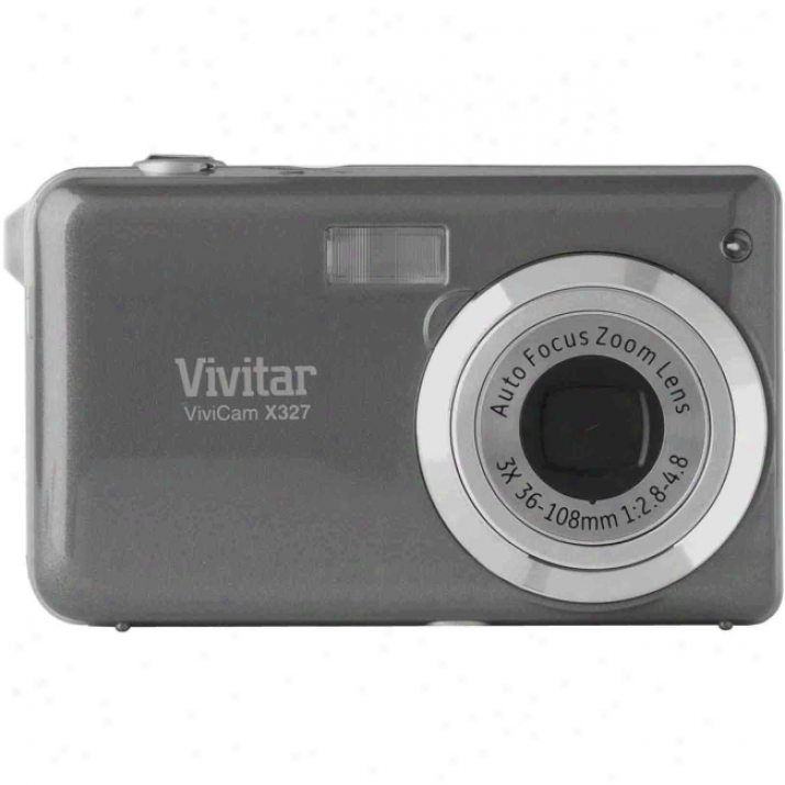 Vivitar Vivicam X327 10 Megapixel Compact Camera - Silver