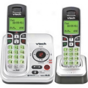 Vtech Cs6229-2 Expandable Two Hansdet Cordless Phone System With Digital Answering Emblem