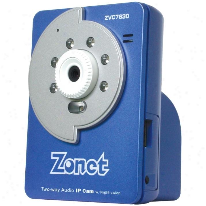 Zonet Zvc7630 2-way Ip Night-vision Camera