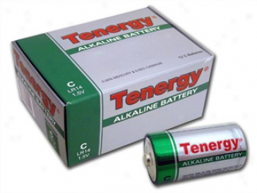 1 Box: 12pcs Tenergy C Size (lr14)  Alkaline Batterie